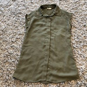 Size XS olive green blouse